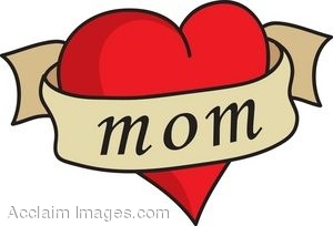 clip art of a heart with a mom banner rh clipartguide com mom clipart free mom clip art free