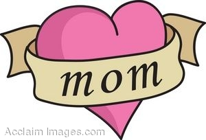 clip art of a heart tattoo with mom rh clipartguide com mom images clipart