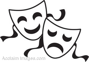 clip art of comedy and tragedy masks rh clipartguide com  theater mask clipart