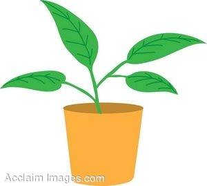 clip art of a leafy potted plant rh clipartguide com plant clip art black and white plant clipart cycle