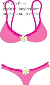 clipart illustration of a bra and panties in pink rh clipartguide com