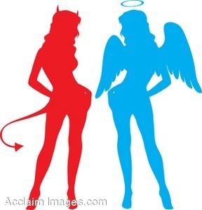 Sexy Angel and Devil Women