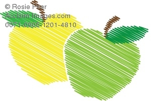 Green Apple and yellow Apple