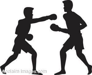 clipart silhouette of two men boxing rh clipartguide com Boxing Punching Bag Boxing Punching Bag