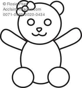 clip art image of a girl teddy bear rh clipartguide com Car Clip Art Black and White images of teddy bear clipart black and white