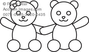 A boy and girl teddy bear