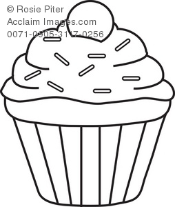 cupcake coloring page royalty free clip art picture - Coloring Pages Of Cupcakes
