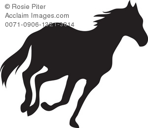 Silhouette Of A Horse Running