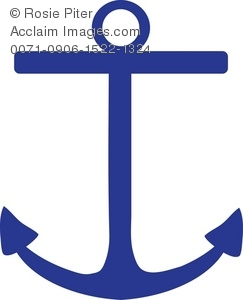 Dark Blue Boat Anchor