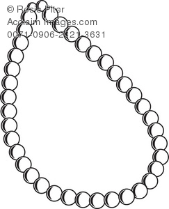 The Outline Of A Pearl Necklace