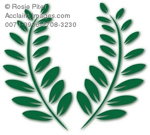 Two Green Fern Fronds