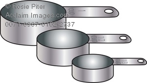 set of metal measuring cups royalty free clip art image rh clipartguide com