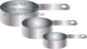A Set Of Metal Measuring Cups