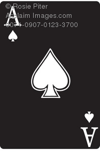 A Black Ace Of Spades Playing Card