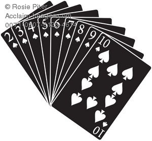 A Group Of Black Spades Playing Cards