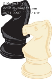 Black And White Knight Chess Pieces