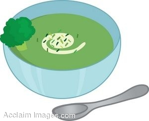 A Bowl Of Cream Of Broccoli Soup