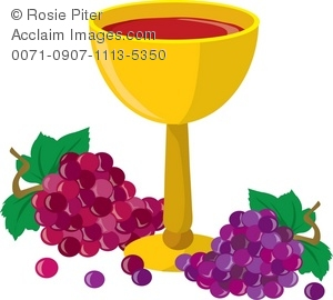 A Goblet Of Wine With Bunches Of Grapes