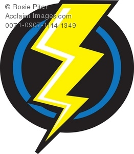 A Yellow Lightning Bolt On a Black Background