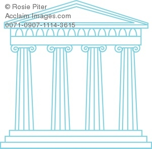 A Blue Greek Temple
