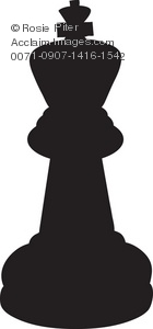 The Silhouette Of A King Chess Piece