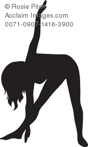 The Silhouette Of A Woman Doing Stretches