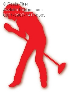 The Red Silhouette Of A Male Singer