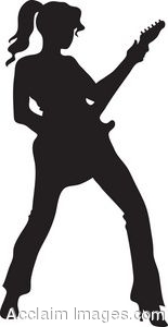 Clip Art Of A Girl Playing Guitar