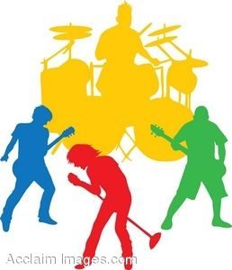 clip art of the silhouette of an all male band rh clipartguide com band clip art pictures band clipart logos maker