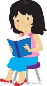 clip art of a young girl reading a book rh clipartguide com little girl reading clipart girl reading clipart free