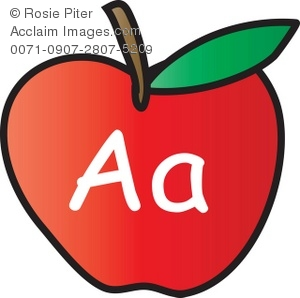 An Apple With The Letter A Written On It