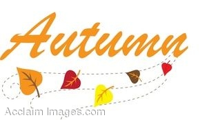 clip art of leaves with the word autumn rh clipartguide com