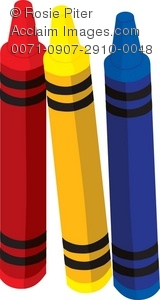 A Set Of Brightly Colored Crayons