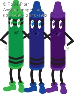 set of cartoon crayons royalty free clip art image - Cartoon Pictures Of Crayons