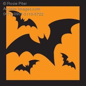 Flying Bats On A Background
