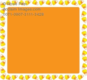 A Candy Corn Page Border For Halloween