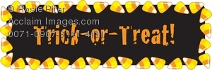 Trick Or Treat In A Candy Corn Border