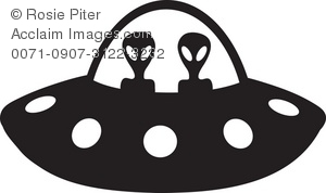 The Silhouette Of Aliens Driving A Space Ship