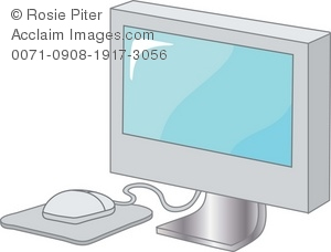 A Flat Screen Computer Monitor With A Mouse