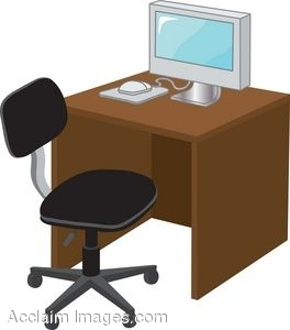 A Computer On A Desk