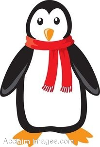 Penguin Wearing Scarf