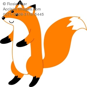 cartoon fox standing on its hind legs royalty free clip art image rh clipartguide com
