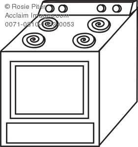 Coloring Page Drawing Of An Oven Or Stove Household Appliance