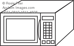 Coloring Page Drawing Of A Microwave Oven Royalty Free Clip Art Ilration