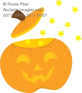 magical halloween jack-o-lantern