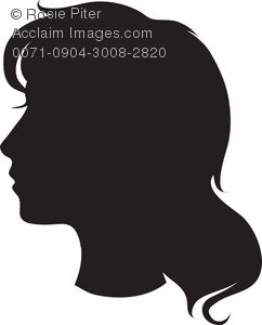silhouette of woman's head in profile