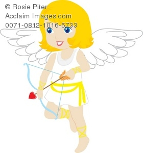 pretty angel girl with Cupid's arrow