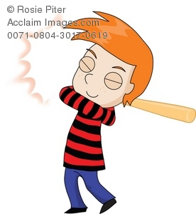 Boy playing baseball swinging a baseball bat
