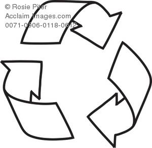 A Cartoon Of A Recycle Symbol