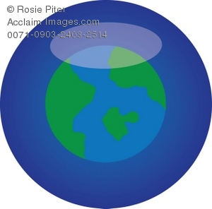 clip art of the earth on a blue background